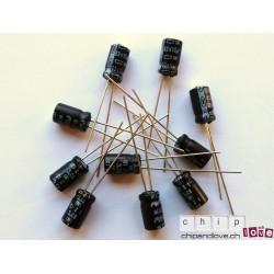 10x Elektrolytkondensator 10uF/63V
