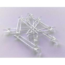 10x LED transparent 3mm [BLAU]