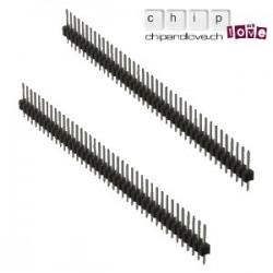2 x Streifen 40-Pin male 2,54 mm