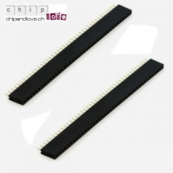 2 x Stackable Headers 40-Pin female 2,54 mm