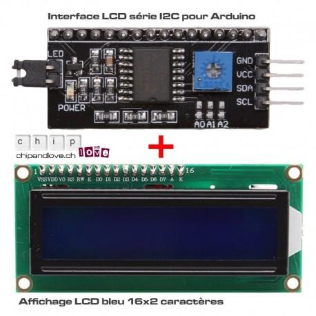 Kit LCD bleu 16x2 pour Arduino