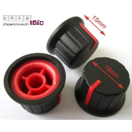 Bouton potentiomètre noir-rouge