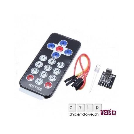 Kit infrarouge HX1838 avec télécommande