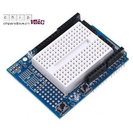 Proto Shield Arduino + mini-breadboard