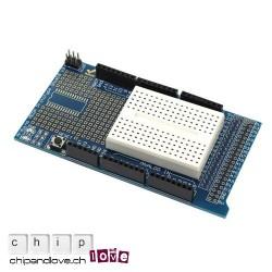 ProtoShield v3 für Arduino Mega + mini-breadboard