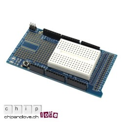 ProtoShield v3 pour Mega + mini-breadboard
