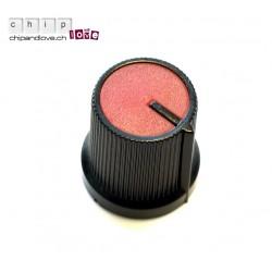 Bouton potentiomètre noir-rouge 15mm