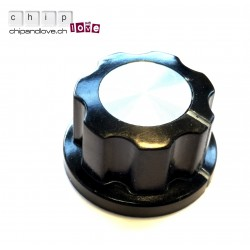 Bouton potentiomètre noir 20 mm