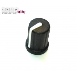 Bouton potentiomètre (touché soft) noir 10mm