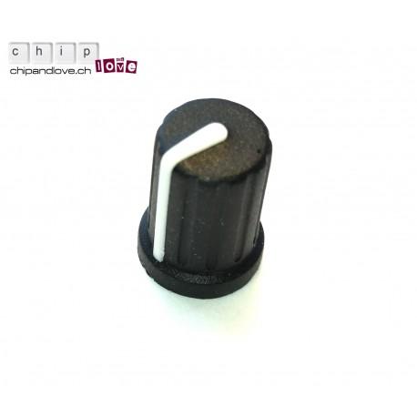 Potentiometerknopf (Soft-Touch) schwarz 10mm