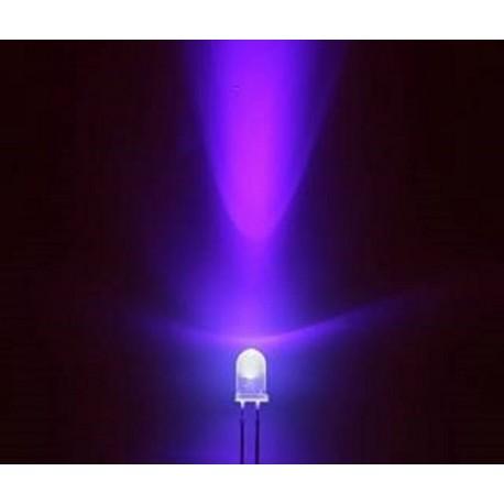 10 x led transparente 5mm couleur de la lumi re mise ultra violet. Black Bedroom Furniture Sets. Home Design Ideas